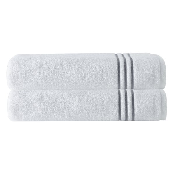Exmore 2 Piece 100% Cotton Bath Towel Set (Set of